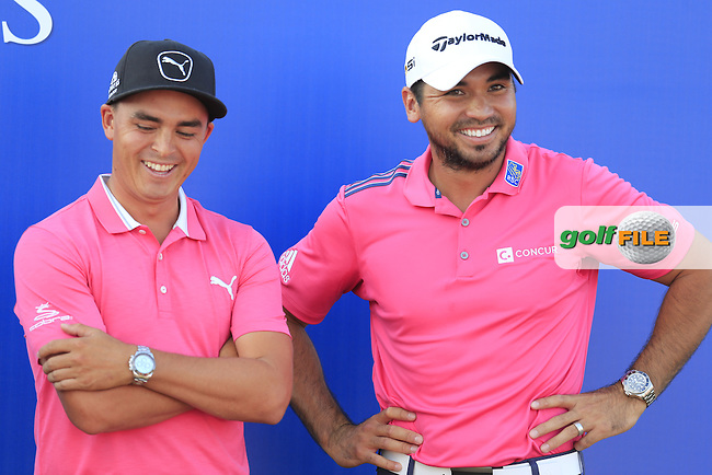 Jason Day (AUS) winner with 2015 Winner Rickie Fowler (USA) after the final round of the Players, TPC Sawgrass, Championship Way, Ponte Vedra Beach, FL 32082, USA. 15/05/2016.<br /> Picture: Golffile | Fran Caffrey<br /> <br /> <br /> All photo usage must carry mandatory copyright credit (&copy; Golffile | Fran Caffrey)