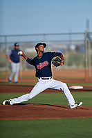 AZL Indians starting pitcher Brauny Munoz (41) during an Arizona League game against the AZL Padres 1 on June 23, 2019 at the Cleveland Indians Training Complex in Goodyear, Arizona. AZL Indians Red defeated the AZL Padres 1 3-2. (Zachary Lucy/Four Seam Images)