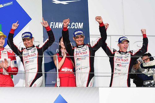 16.10.2016. Fuji Speedway in Oyama, Shizuoka, Japan. WEC 6 Hours of Fuji race day.  #6 TOYOTA GAZOO RACING (JPN) TOYOTA TS050 HYBRID LMP1 STEPHANE SARRAZIN (FRA) MIKE CONWAY (GBR) KAMUI KOBAYASHI (JPN) WINNER OVERALL