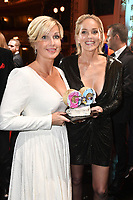 Jessica Peppel-Schulz and Sharon Stone at the 21st presentation of the GQ Men of the Year Awards 2019 at the Komische Oper. Berlin, November 7, .2019. Credit: Action Press/MediaPunch ***FOR USA ONLY***