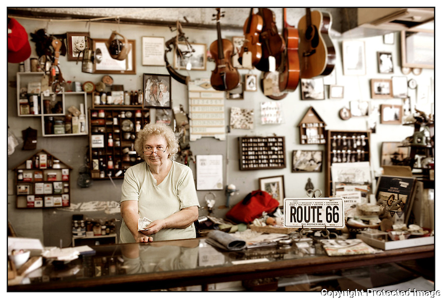 Missouri-Route 66<br /> Portrait<br /> Halltown