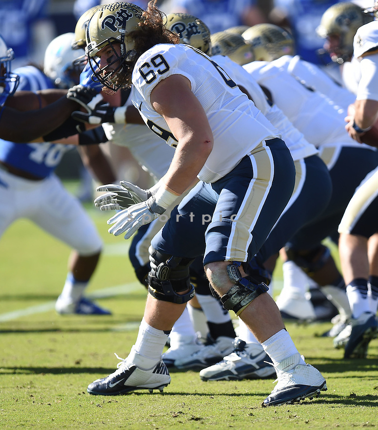 Pittsburgh Panthers Adam Bisnowaty (69) during a game against the Duke Blue Devils on November 14, 2015 at Wallace Wade Stadium in Durham, NC. Pittsburgh beat Duke 31-13.