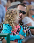 Five-year-old Chloe and Dad Derek Jones enjoy the Reno Rodeo on Saturday, June 20, 2015.