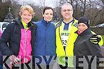 Pictured at the Feet First 5 mile run in Killarney on Friday were Helen Leonard, Annette Quaid, Brian Allman and Nollaigh O'Neill.