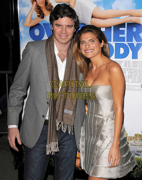 LAKE BELL & her brother.Attends New Line Cinema's L.A. Premiere of Over Her Dead Body held at The Arclight Theatre in Hollywood, California, USA, January 29th 2008..half length family siblings strapless silver grey gray dress.CAP/DVS.©Debbie VanStory/Capital Pictures