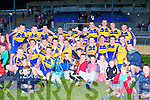 Kenmare  Captain Kieran Fitzgerald celebrates with his team mates after they defeated St Kierans in Fitzgerald Stadium Wednesday night