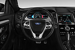 Car pictures of steering wheel view of a 2017 Ford Taurus SHO 4 Door Sedan Steering Wheel