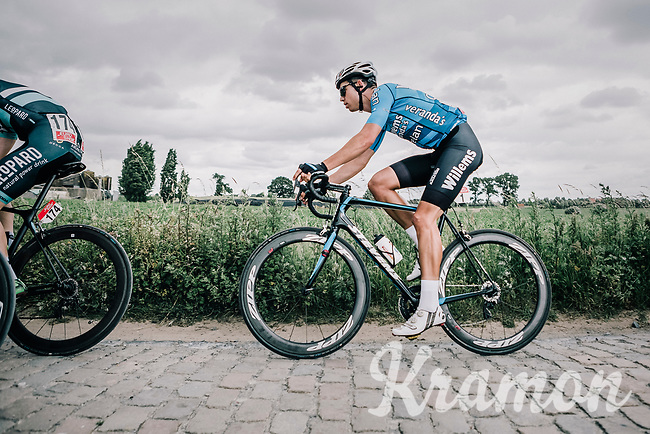 Wout Van Aert (BEL/Veranda's Willems Crelan) riding the cobbles.<br /> <br /> <br /> 2nd Elfstedenronde 2018<br /> 1 day race: Brugge - Brugge 196.3km