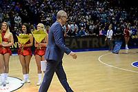 GRONINGEN - Basketbal, Donar - ZZ Leiden, Supersup, seizoen 2018-2019, 06-10-2018,  Leiden coach  Rolf Franke beent weg met zijn medaille
