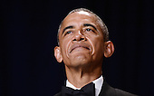 United States President Barack Obama speaks at the annual White House Correspondent's Association Gala at the Washington Hilton hotel April 25, 2015 in Washington, D.C. The dinner is an annual event attended by journalists, politicians and celebrities.<br /> Credit: Olivier Douliery / Pool via CNP