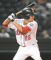 Sept. 18, 2009: New arrival Derrik Gibson (22) was a last-minute replacement for Will Middlebrooks. The Lakewood BlueClaws won Game 4 of the South Atlantic League Championship Series against the Greenville Drive 5-1 at Fluor Field at the West End in Greenville, S.C. Lakewood won the series 3 games to 1. Photo by: Tom Priddy/Four Seam Images