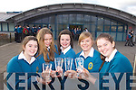The Mercy Mounthawk debate team taking part in the all-Ireland finals at the end of March, from left: Emma McCarthy, Elisha Buckley, Kelly Brosnan, Laura Carroll and Ellie Horgan.