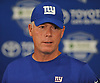 Pat Shurmur, New York Giants head coach, speaks with the media after a day of training camp at Quest Diagnostics Training Center in East Rutherford, NJ on Friday, Aug. 3, 2018.