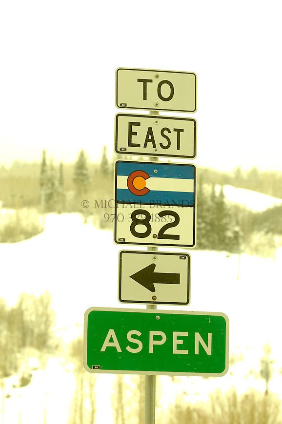Aspen via Highway 82. Colorado. © Michael Brands. 970-379-1885.