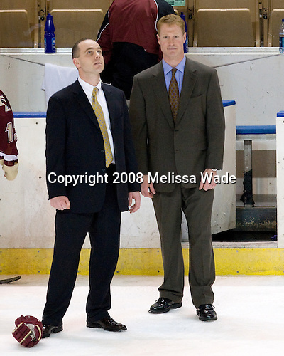 Mike Cavanaugh, Greg Brown - The Boston College Eagles defeated the Miami University Redhawks 4-3 in overtime on Sunday, March 30, 2008 in the NCAA Northeast Regional Final at the DCU Center in Worcester, Massachusetts.
