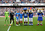 28.09.2018 Rangers v Aberdeen: Mascots line up