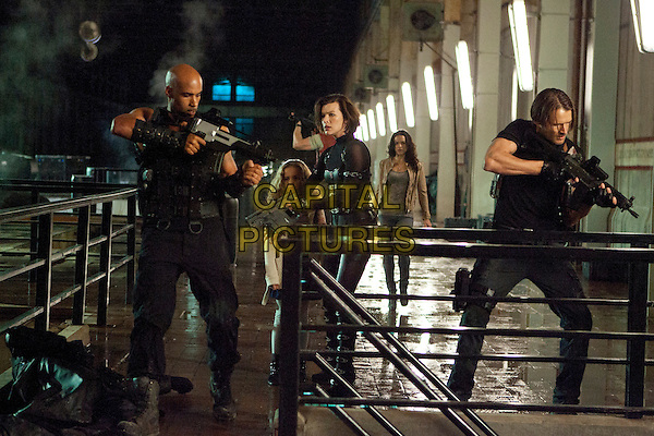 Boris Kodjoe, Aryana Engineer, Milla Jovovich, Michelle Rodriguez & Johann Urb.in Resident Evil: Retribution (2012).*Filmstill - Editorial Use Only*.CAP/NFS.Supplied by Capital Pictures.