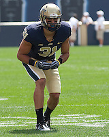 Pitt defensive back Dom DeCicco. The Pittsburgh Panthers defeated the Youngstown State Penguins 38-3 at Heinz Field on September 5, 2009.