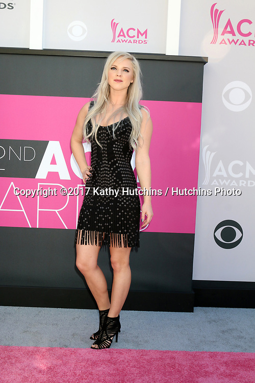 LAS VEGAS - APR 2:  Kayla Adams at the Academy of Country Music Awards 2017 at T-Mobile Arena on April 2, 2017 in Las Vegas, NV
