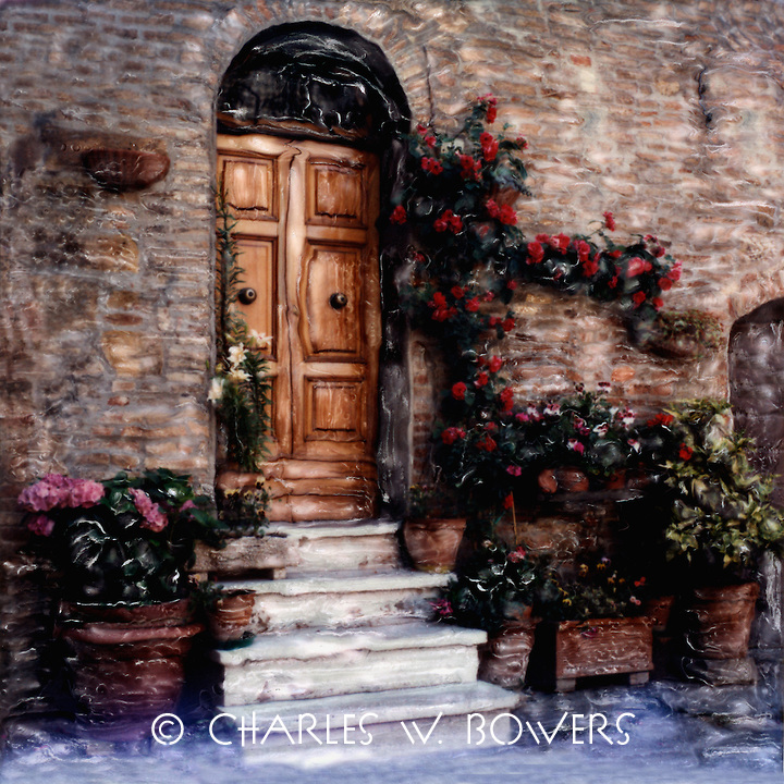 How do you creatively use limited space to create an garden space at your entrance?<br />