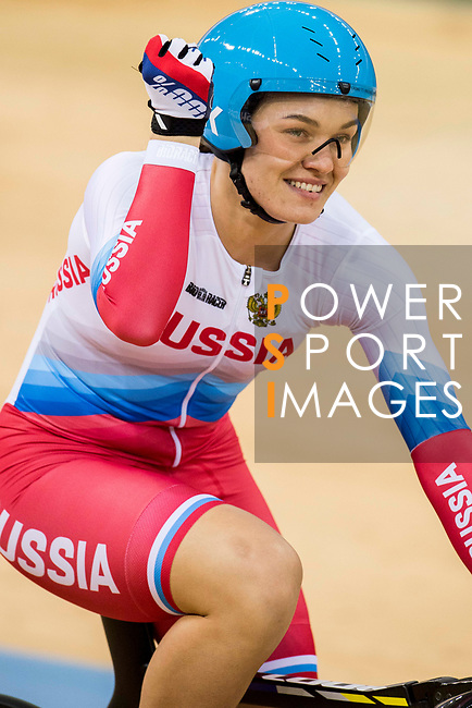 Anastasiia Voinova of the team of Russia competes in the Women's Team Sprint Final as part of the 2017 UCI Track Cycling World Championships on 12 April 2017, in Hong Kong Velodrome, Hong Kong, China. Photo by Victor Fraile / Power Sport Images