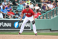 Boston Red Sox  shortstop Garin Cecchini (70) during a Spring Training game against the New York Mets on March 16, 2015 at JetBlue Park at Fenway South in Fort Myers, Florida.  Boston defeated New York 4-3.  (Mike Janes/Four Seam Images)