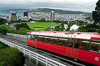 Opened in 1902, the Wellington Cable Car climbs the suburban hillside of New Zealand's capital city. Connecting the heart of downtown at Lambton Quay, the cities premier shopping district, to the Botanic Garden and Carter Observatory, the cars have been electrically powered since 1933.