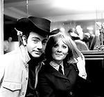 "Neil Diamond and Lulu 1967 celebrate Lulu recording his ""The Boat That I Row"".© Chris Walter."
