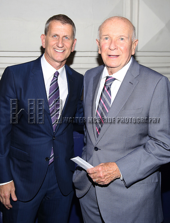 "Tom Kirdahy and Terrence McNally attends the Broadway Opening Night performance of  ""The Front Page""  at the Broadhurst Theatre on October 20, 2016 in New York City."