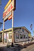 The historic Aztec Motel on Route 66 in Seligman Ariizona.