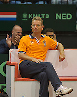 15-sept.-2013,Netherlands, Groningen,  Martini Plaza, Tennis, DavisCup Netherlands-Austria, fourth rubber,  Dutch captain Jan Siemerink <br /> Photo: Henk Koster