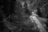 stretched out peloton<br /> <br /> Stage 17: Tirano &rsaquo; Canaze (219km)<br /> 100th Giro d'Italia 2017