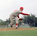 Philadelphia Phillies Jim Bunning (14) during a game from his 1964 season with the Philadelphia Phillies. Jim Bunning played for 17 years with 4 different teams. He was 7-time All-Star and was inducted to the Baseball Hall of Fame in 1996