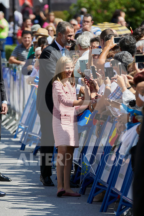 Princess Sofia of Spain and King Felipe VI of Spain visit Covadonga, Spain. September 08, 2018. (ALTERPHOTOS/A. Perez Meca)