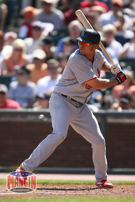 SAN FRANCISCO - APRIL 13:  Rick Ankiel of the St. Louis Cardinals bats during the game against the San Francisco Giants at AT&T Park in San Francisco, California on April 13, 2008.  The Giants defeated the Cardinals 7-4.  Photo by Brad Mangin