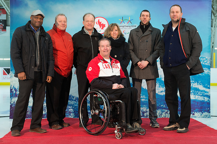 Ottawa, ON - January 24 2017 - Members of the Canada Border Services Agency as Todd Nicholson is announced as the Team Canada Chef de Mission for the 2018 Paralympic Winter Games in Pyeongchang, South Korea at the Jim Durrell Recreation Complex in Ottawa, Ontario, Canada (Photo: Matthew Murnaghan/Canadian Paralympic Committee)