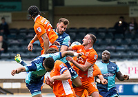 Max Muller of Wycombe Wanderers during the Sky Bet League 2 match between Wycombe Wanderers and Blackpool at Adams Park, High Wycombe, England on the 11th March 2017. Photo by Liam McAvoy.