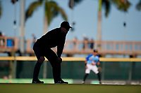 Umpire John Benken during a Florida State League game between the Jupiter Hammerheads and Bradenton Marauders on April 20, 2019 at LECOM Park in Bradenton, Florida.  Bradenton defeated Jupiter 3-2.  (Mike Janes/Four Seam Images)