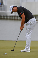Byeong Hun An (KOR) sinks his putt on 13 to win the match over Kyle Stanley (USA) during day 3 of the WGC Dell Match Play, at the Austin Country Club, Austin, Texas, USA. 3/29/2019.<br /> Picture: Golffile | Ken Murray<br /> <br /> <br /> All photo usage must carry mandatory copyright credit (© Golffile | Ken Murray)