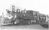 3/4 fireman's-side view of D&amp;RGW #375 in yard.<br /> D&amp;RGW