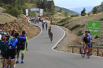 Riders scattered all over the mountain on the final Cat 1 climb up to Observatorio Astrofisico de Javalambre during Stage 5 of La Vuelta 2019 running 170.7km from L'Eliana to Observatorio Astrofisico de Javalambre, Spain. 28th August 2019.<br /> Picture: Eoin Clarke | Cyclefile<br /> <br /> All photos usage must carry mandatory copyright credit (© Cyclefile | Eoin Clarke)