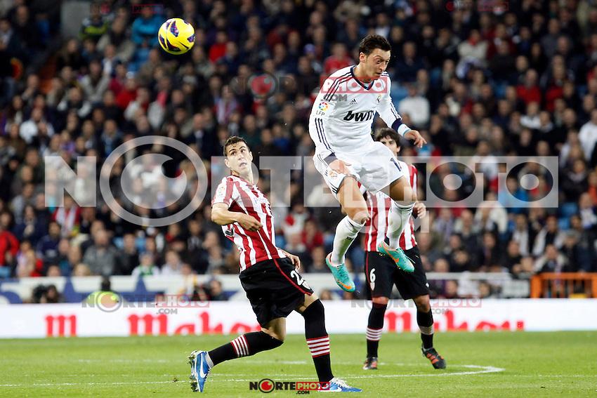 Real Madrid CF vs Athletic Club de Bilbao (5-1) at Santiago Bernabeu stadium. The picture shows Mesut Ozil and Borja Ekiza. November 17, 2012. (ALTERPHOTOS/Caro Marin) NortePhoto
