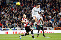 Real Madrid CF vs Athletic Club de Bilbao (5-1) at Santiago Bernabeu stadium. The picture shows Mesut Ozil and Borja Ekiza. November 17, 2012. (ALTERPHOTOS/Caro Marin) NortePhoto