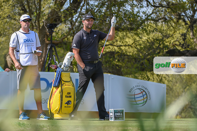 Jon Rahm (ESP) looks over his tee shot on 12 during day 1 of the WGC Dell Match Play, at the Austin Country Club, Austin, Texas, USA. 3/27/2019.<br /> Picture: Golffile | Ken Murray<br /> <br /> <br /> All photo usage must carry mandatory copyright credit (© Golffile | Ken Murray)