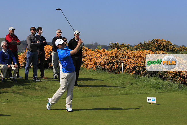 Jack Hume (Naas) on the 18th tee during Round 4 of the Flogas Irish Amateur Open Championship at Royal Dublin on Sunday 8th May 2016.<br /> Picture:  Thos Caffrey / www.golffile.ie