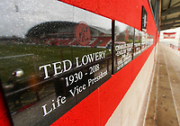 A general view of the memorial wall at  Highbury Stadium, home of Fleetwood Town<br /> <br /> Photographer Lee Parker/CameraSport<br /> <br /> The EFL Sky Bet League One - Fleetwood Town v Blackpool - Saturday 7th March 2020 - Highbury Stadium - Fleetwood<br /> <br /> World Copyright © 2020 CameraSport. All rights reserved. 43 Linden Ave. Countesthorpe. Leicester. England. LE8 5PG - Tel: +44 (0) 116 277 4147 - admin@camerasport.com - www.camerasport.com
