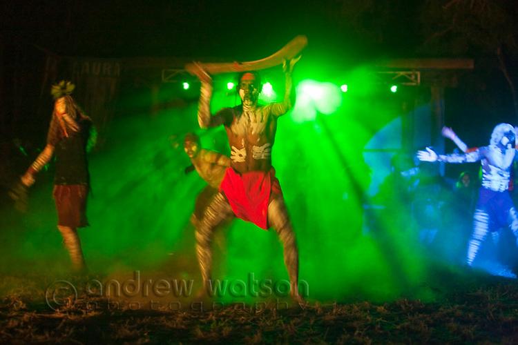 Indigenous dancers.  Laura Aboriginal Dance Festival, Laura, Queensland, Australia