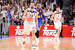 Real Madrid's Sergio Llull and Maccabi Fox's Victor Rudd during Turkish Airlines Euroleague match between Real Madrid and Maccabi at Wizink Center in Madrid, Spain. January 13, 2017. (ALTERPHOTOS/BorjaB.Hojas)