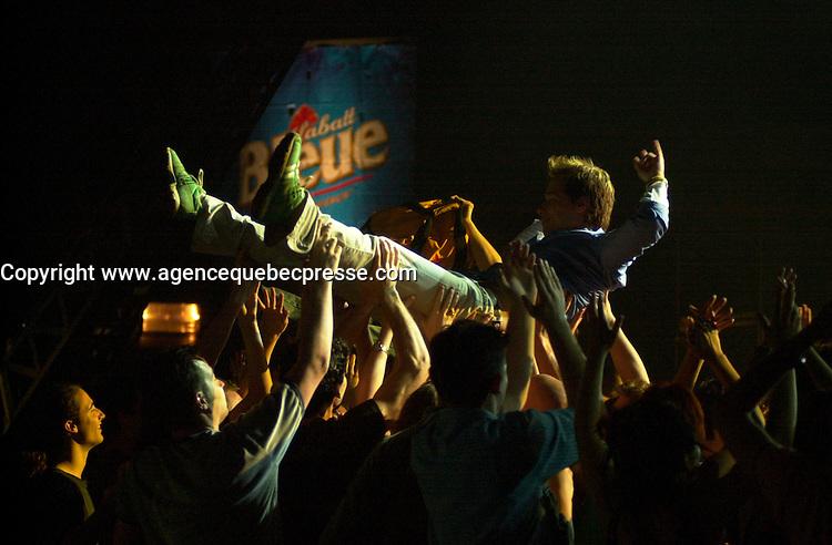 Stephane Rousseau on<br />  the set of LES DANGEREUX, Directed by Louis Saia<br /> <br /> photo : (c)  Images Distribution