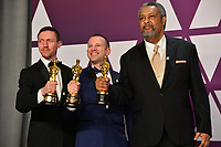 LOS ANGELES, CA. February 24, 2019: David Rabinowitz, Charlie Wachtel &amp; Kevin Willmott at the 91st Academy Awards at the Dolby Theatre.<br /> Picture: Paul Smith/Featureflash
